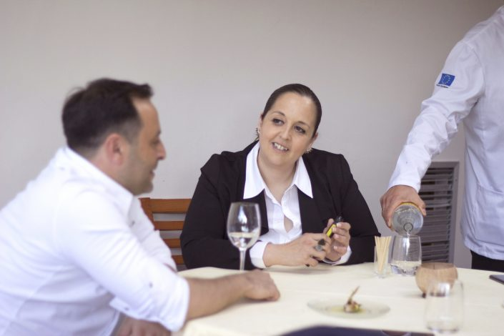 Calleja y Gutiérrez, jefe de cocina y jefa de sala del Restaurante Annua