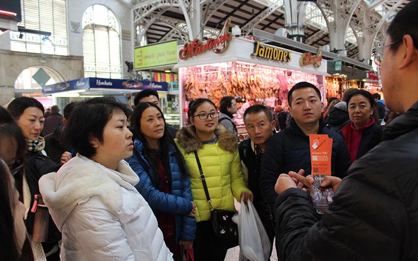 El Mercado Central es uno de los lugares de Valencia que más gusta al turismo chino.