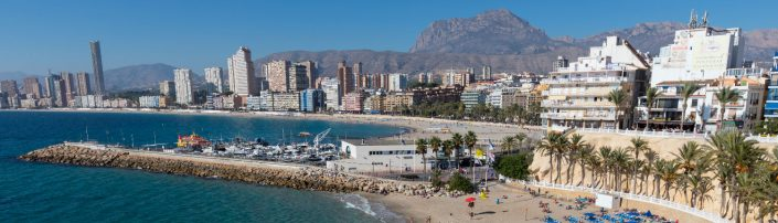 Imagen de la costa de Benidorm en la Comunitat Valenciana