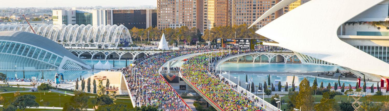 Maratón en la Ciudad de las Artes y las Ciencias de València