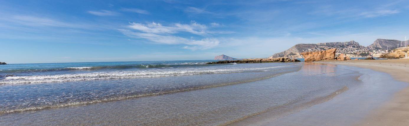 Playa Cantal Roig en Calpe, Comunitat Valenciana