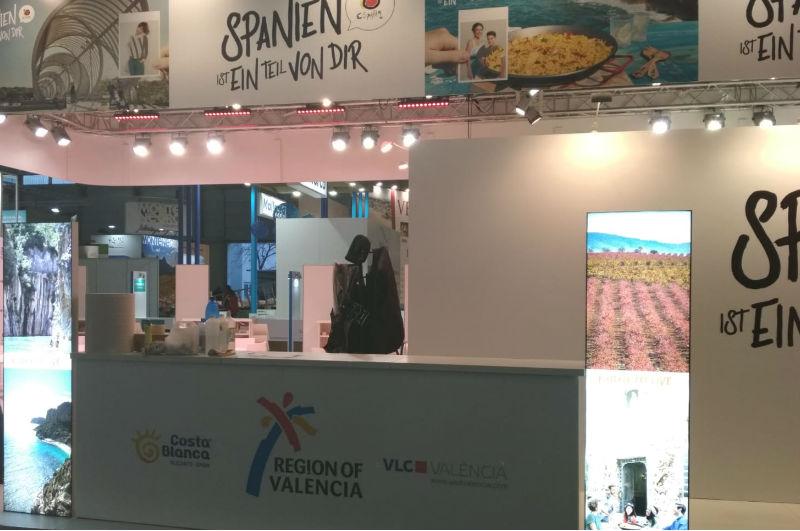 Espacio Comunitat Valenciana en stand de Feria Ferien Messe