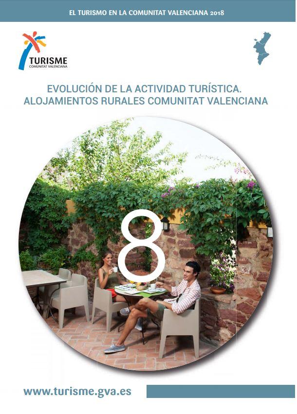 Portada de El Turismo en la Comunitat Valenciana 2018 Alojamiento Rural