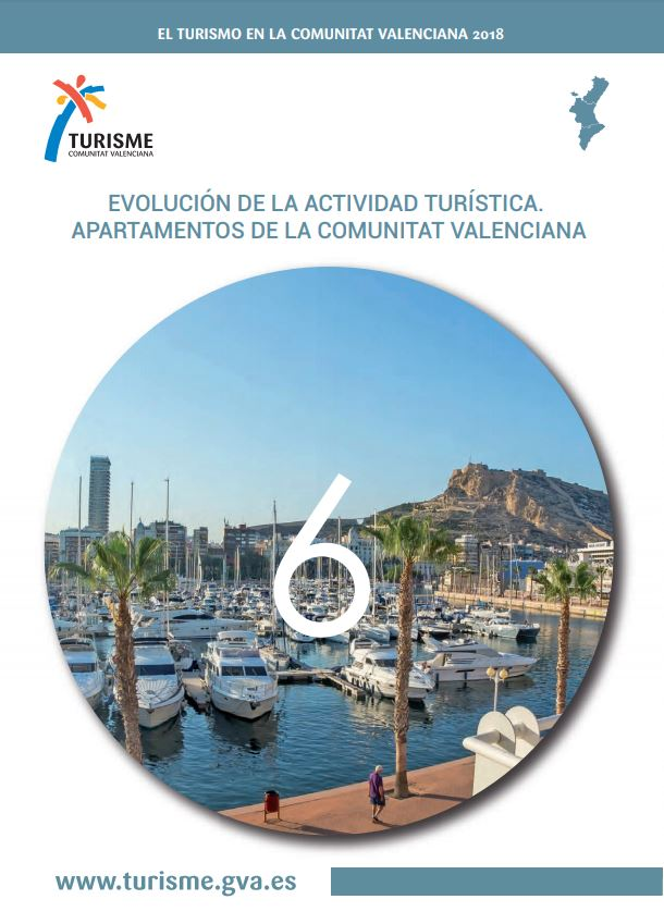Portada de El turisme en la Comunitat Valenciana 2018 Apartamentos