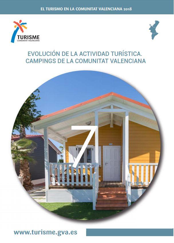 Portada de El Turisme en la Comunitat Valenciana 2018 Cámpings