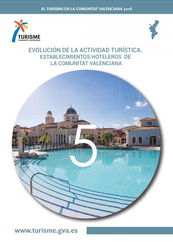 Portada de El Turisme Comunitat Valenciana 2018 Hoteles