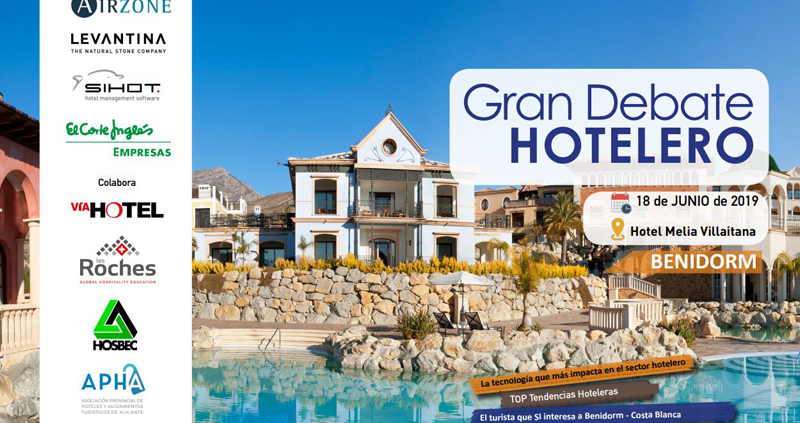 Cartel Gran debate hotelero en Benidorm - Costa Blanca