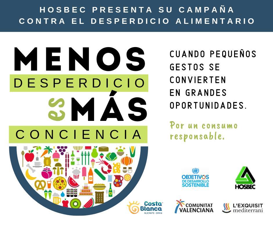 Cartel presentación programa Hosbec contra el desperdicio alimentario