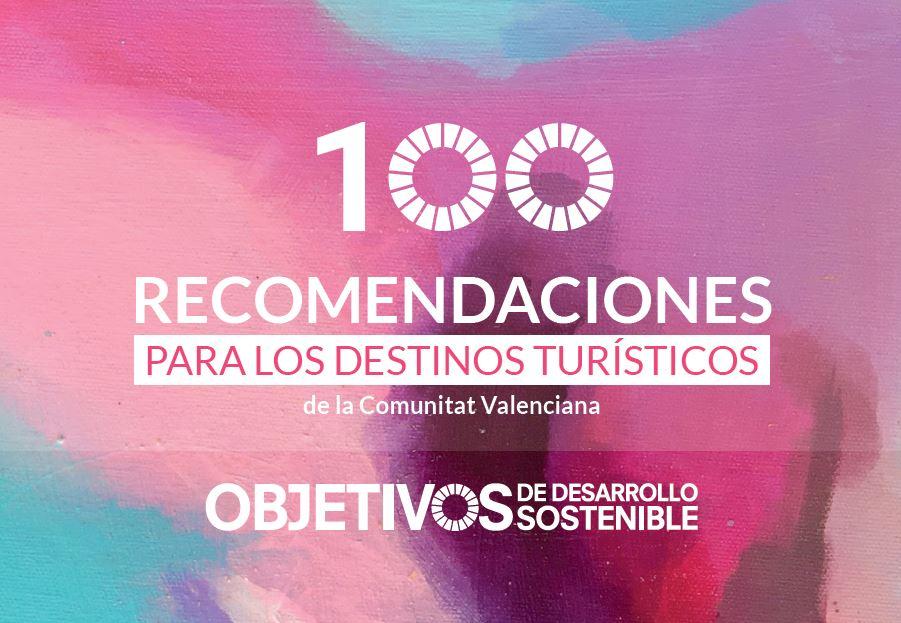 Portada Guia de 100 recomendaciones para aplicar los ODS en los destinos turísticos de la Comunitat Valenciana. Versión en Castellano