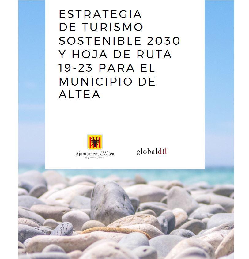 Portada de la Estrategia de Turismo Sostenible 2030 de Altea