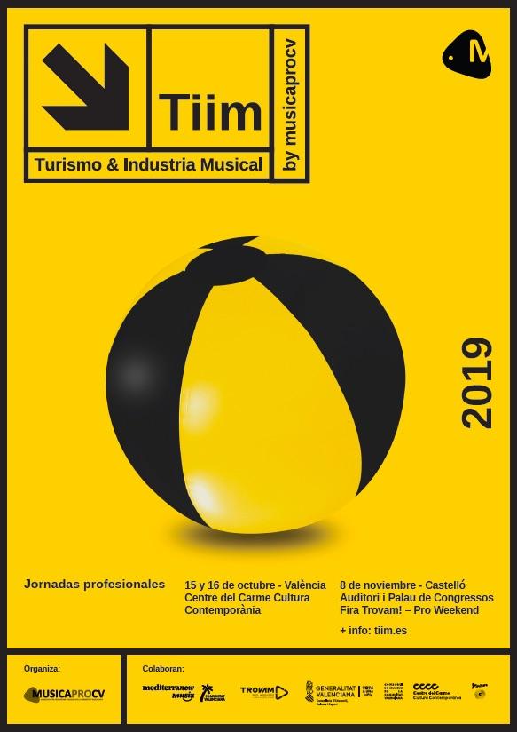 Cartel de las Jornadas Turismo e Industria Musical Comunitat Valenciana