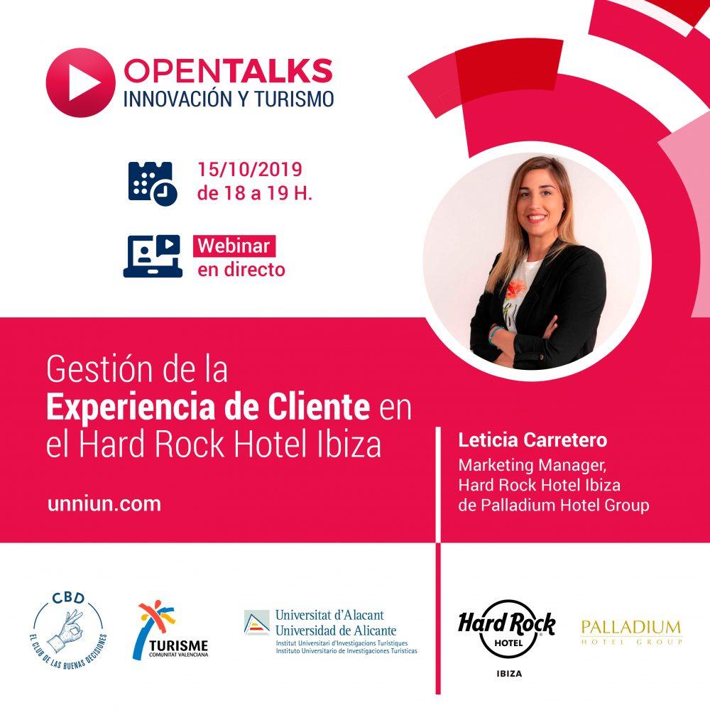 OpenTalks Innovación y Turismo 15 octubre 2019