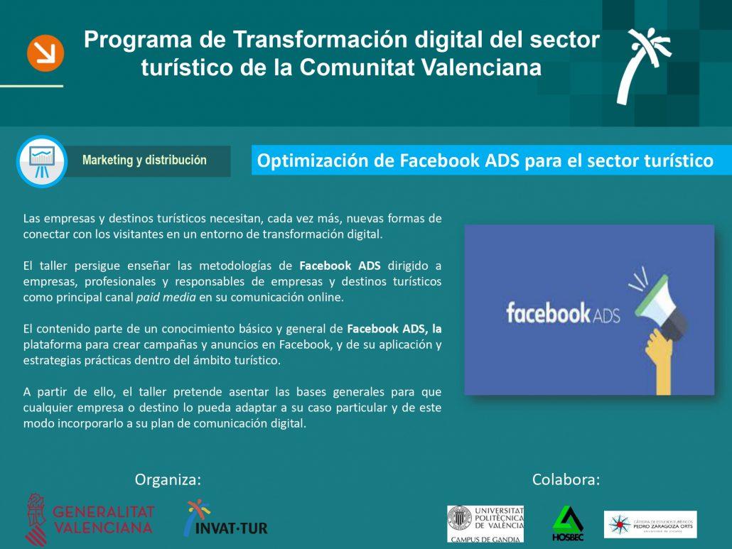 Introducción al taller de Facebook Ads para el sector turístico de la Comunitat Valenciana