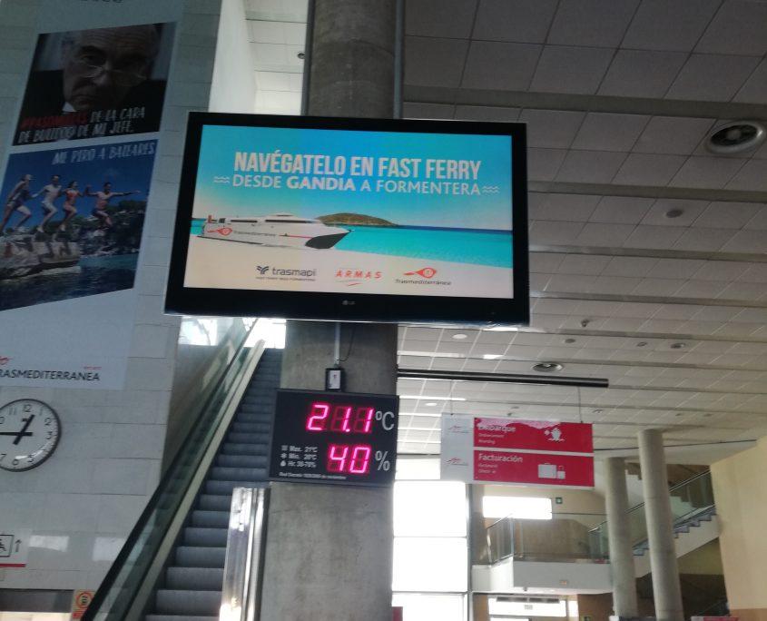 Sensor colocado en el Puerto de València para medir el flujo de turistas de cruceros