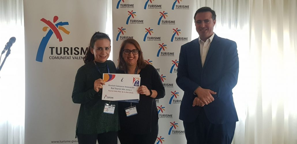 Entrega del accésit del Premio Innovación Tourist Info 2019 a la oficina de Pilar de la Horadada
