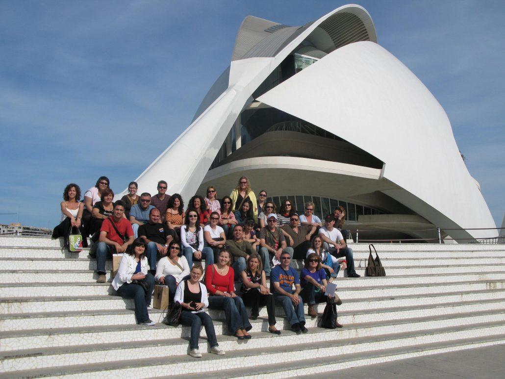 Informadores Tourist Info de fam trip en València en el año 2008