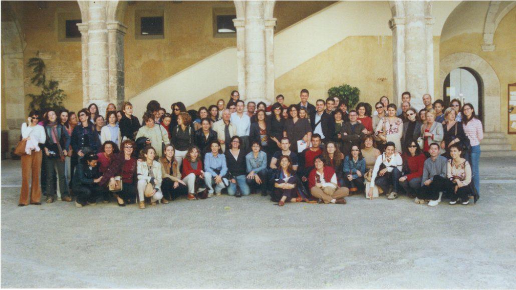 Informadores Tourist Info en una visita a Cocentaina en el 2002