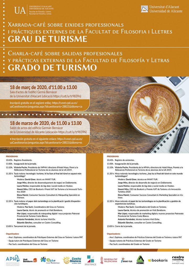 Jornadas nuevas salidas laborales en turismo de la Universidad de Alicante