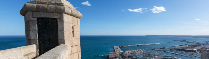 Castillo de Santa Bárbara, en Alicante, Comunitat Valenciana