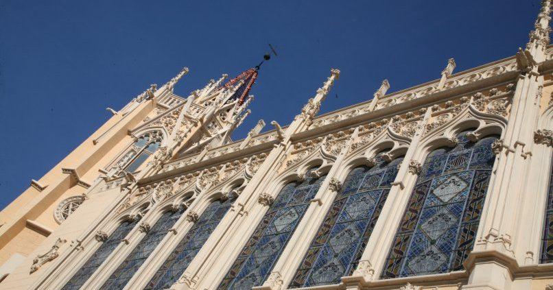 Detalle fachada Palacio de la Exposición en València,
