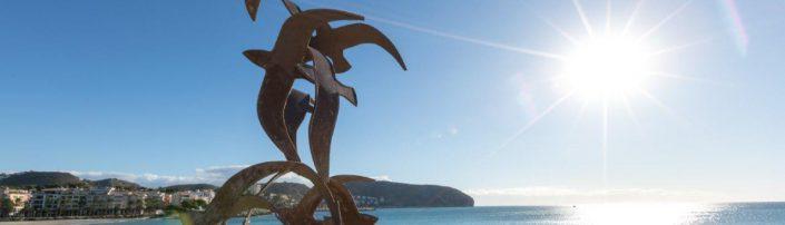 Escultura pájaros de Marí en Moraira, Alicante, Comunitat Valenciana