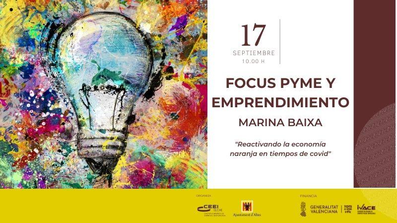Cartel Focus Pyme Emprendimiento Marina Baixa 2020