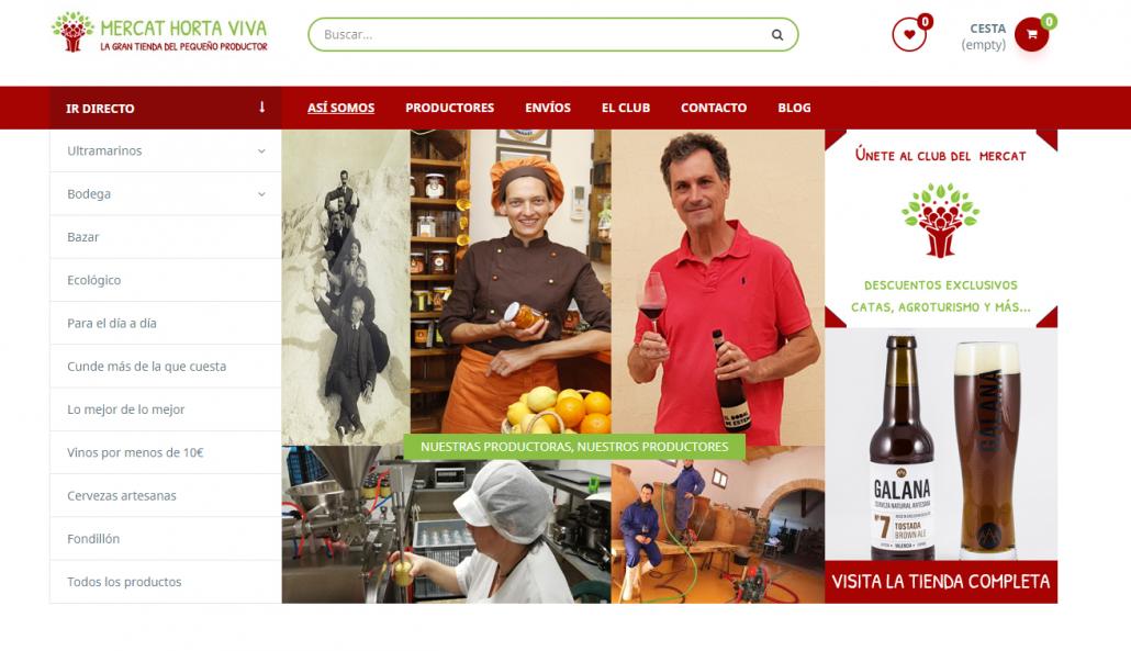 Tienda on line de productos de la huerta Mercat Horta Viva