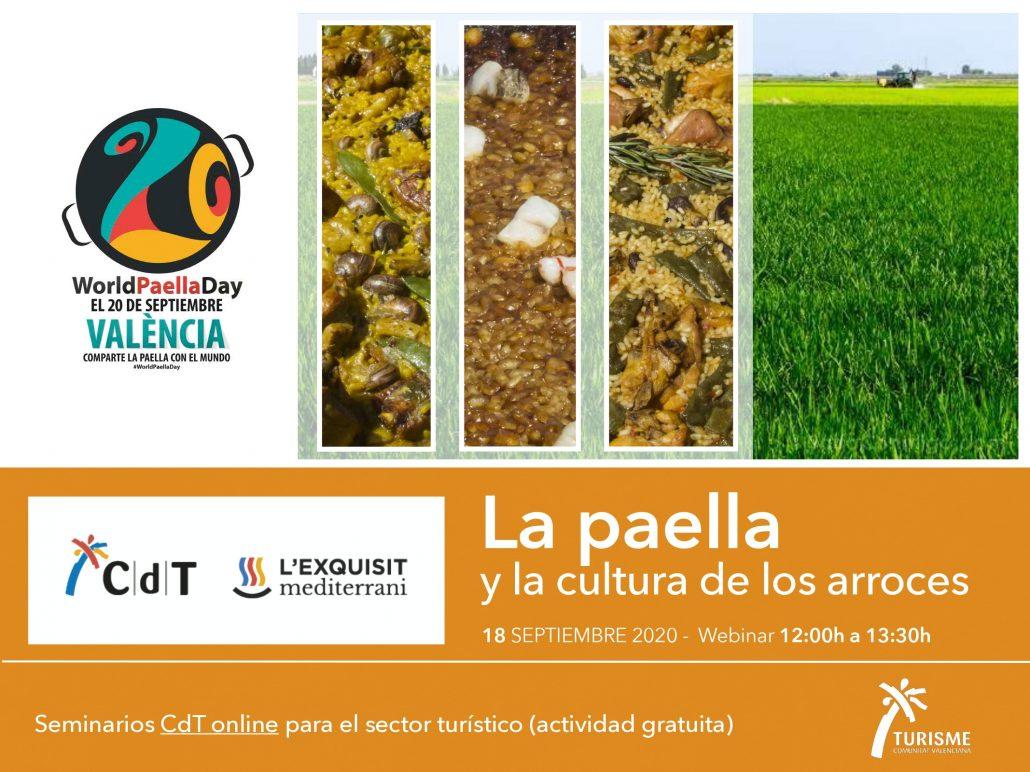Portada del programa del seminario sobre paella y la cultura de los arroces 18 septiembre 2020