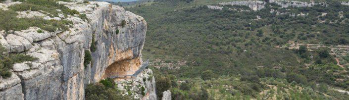 vistas generales de las pinturas rupestres de la Valltorta en Castellón, Comunitat Valenciana