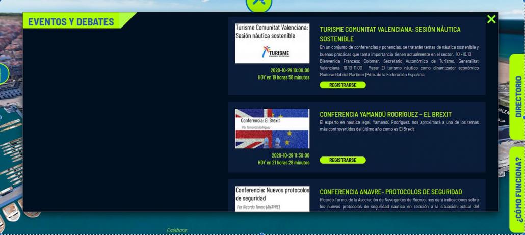 Jornada on line de Turismo Náutico Sostenible 2020 en la Virtual Valencia Boat Show