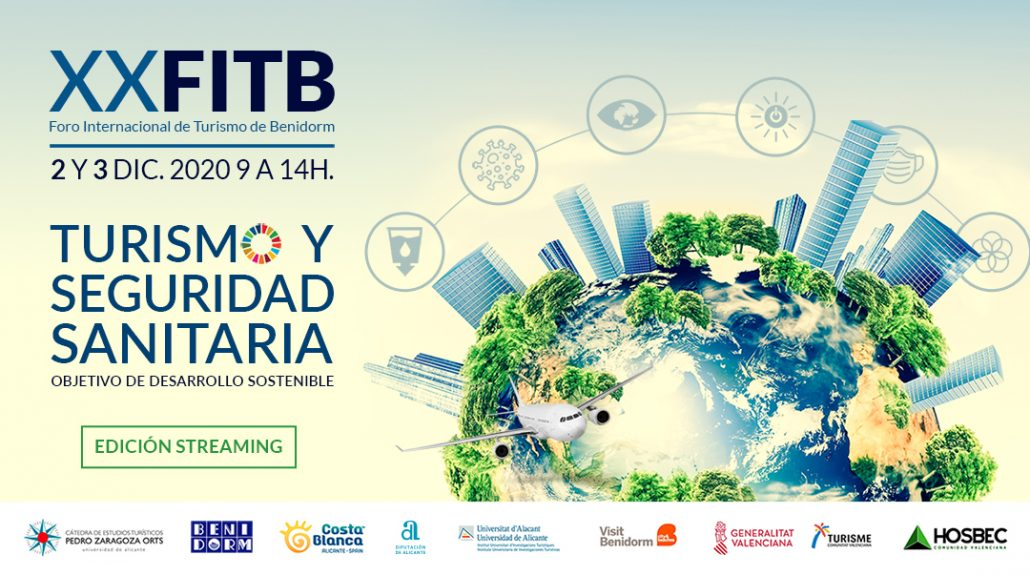 Cartel Foro Internacional de Turismo de Benidorm 2020