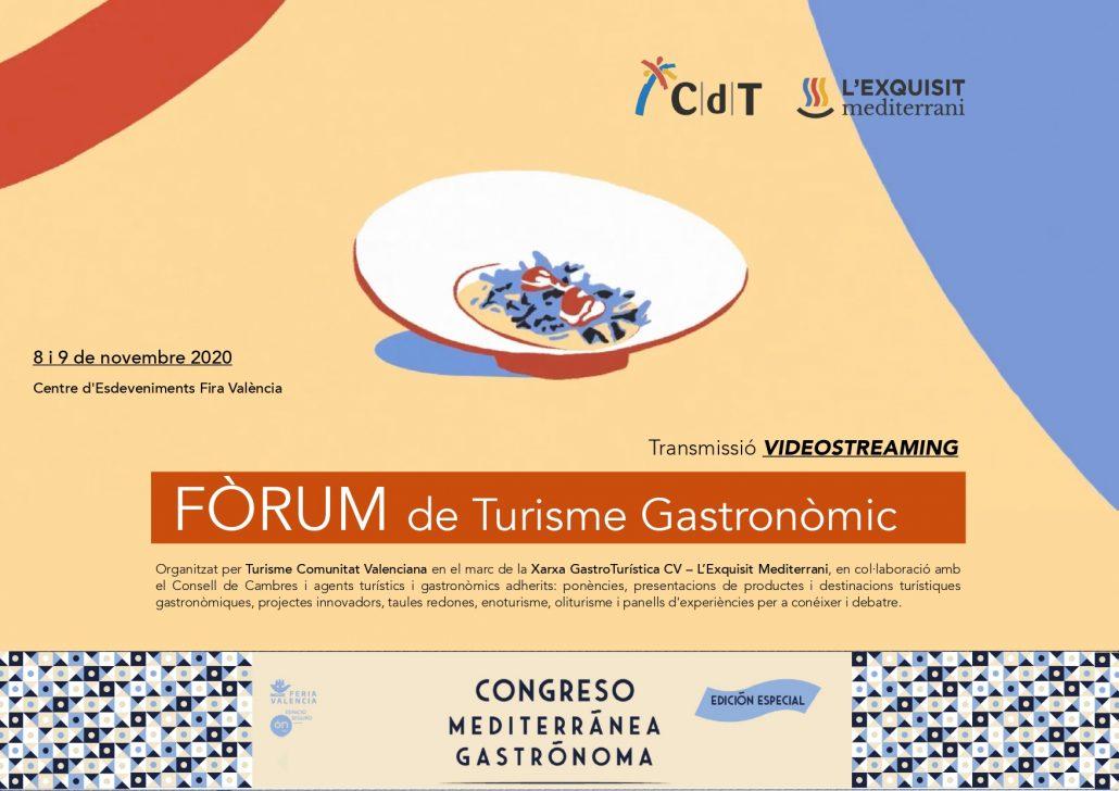 Portada del programa del Fòrum de Turisme Gastronòmic en Mediterrània Gastrònoma 2020