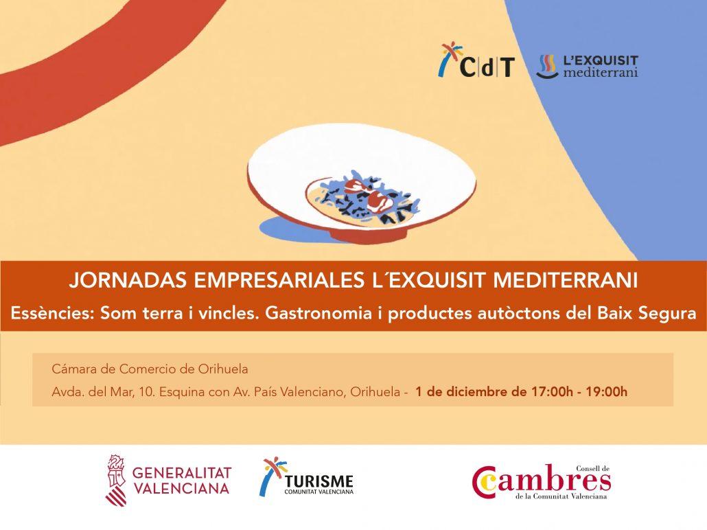 Portada del programa de la Jornada L'Exquisit Mediterrani en Orihuela diciembre 2020